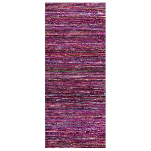 ALFOMBRA SEDA CACHEMIRA 70x170 ROSA