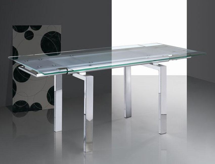 Mesa Extensible Diseno Moderno De Cristal 150 220 X 90 Buykuki