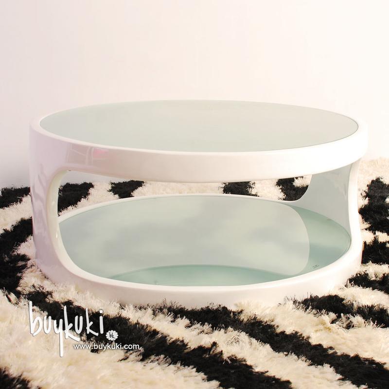 Mesa de centro isabela fiberglass blanca buykuki 00