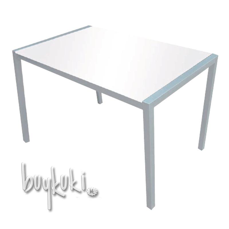 Mesa de cristal emily blanco