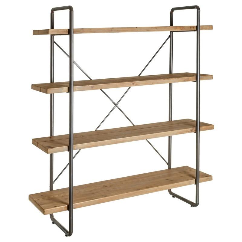 Estanter a malmo cuadrada metal madera buykuki - Estanterias de pared amazon ...