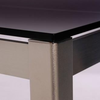 Mesa cristal ahumado 140x85 y aluminio buykuki 02