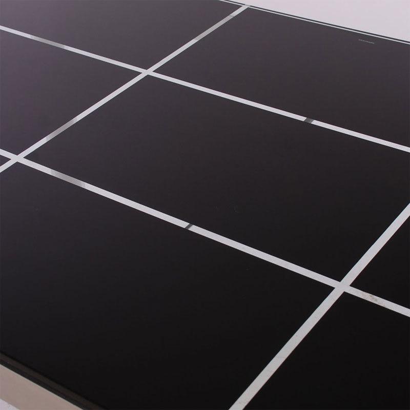 Mesa cristal ahumado 140x85 y aluminio buykuki 03